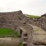 Interior staircases and drystone walls of fort