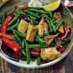 Seasonal vegetable and tofu