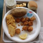 $21.95 Combination (Haddock & Scallops) dinner.