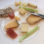 Assorted Cheeses with Quince and celery