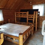 inside cabin with sleeping for 6