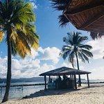 Beach bar with hammocks on the water...heavenly