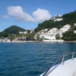 on our way to Soufriere sulfur springs..look for Maguiver on the beach for this tour