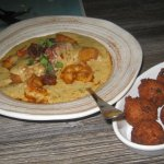 Shrimp & Grits w/side order of hush puppies