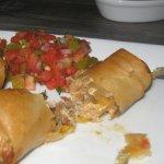 tomato & okra relish w/gooey goodness of redneck rolls