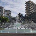 The Kapiolani Park fountain.