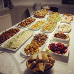 Delicious Greek Buffet for my Birthday Event