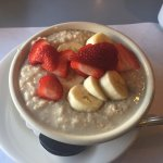 Oatmeal and fruit,  Moonakis Cafe  460 Waquoit Hwy, Falmouth, Mass