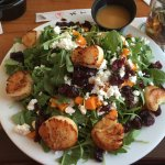 Delicious scallop salad, TwoTen Oyster Bar & Grill c 210 Salt Pond Rd, South Kingstown, RI