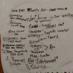 Shirt signed by the staff that took us in like family. Missing is Rashane.