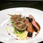 Duck breast, tortelloni, parsnip puree