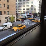 View of the New York Taxies, GI Fridays c 761 7th Ave, Times Square, New York City, NY