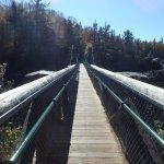 View Across Swinging Bridge