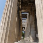 Temple of Hephaestus 9 (seeing through the temple)