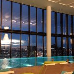 27th floor pool. From the deck chairs , accross to Clarendon Street building side. Magnificent p