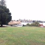 View of opera house with garden -- inferior shot