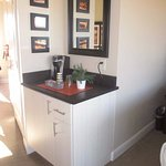 Keurig and mini fridge