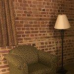 Love the historic brick but room feels like it is historic 1970s