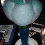 The huge cotton candy on top