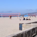Beach volleyball area