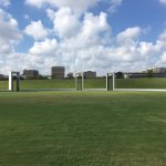 View of TAMU admin building from the memorial ring.