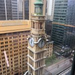 Clock tower from room on 19th floor