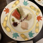 Pretty plate of sashimi