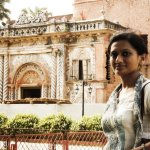 In front of a hystorical building in Sonargaon