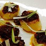 Pan seared scallops with XO