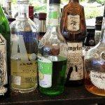 Shabby bottles at the pool bar. Hyatt Regency, Tumon Beach