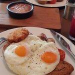 Great full breakfast on Sourdough bread.