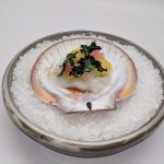 Scallop with finger lime