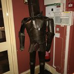 Suit of armor in the hallway.