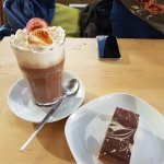 Hot Chocolate & the gluten free cake option