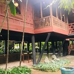The view of the back of the house. The house was built on stilts to protect from flooding.