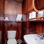 Ensuite bathroom on The Vat Phou Cruise