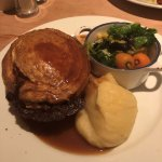 Steak & Proper Ale Pie with Mash and Roast Veg and Gravy, one of the best pie's I have ever had