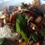 delicious - chicken, steak and shrimp