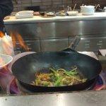 wok prep area