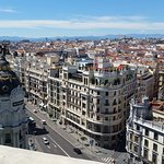 Roof top bar central Madrid.