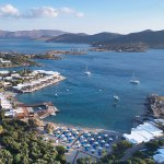 Elounda Beach Hotel & Villas with its private, golden, sandy beaches at Mirabello bay.
