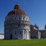 Baptistry in front then the Duomo then the Tower in the back.