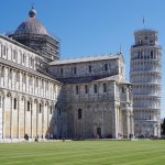 part of the Duomo and Leaning Tower