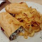 Meatball & Mozzarella Poboy, undressed with Mayo...