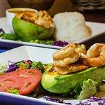 Shrimp Stuffed Avocado @ Cafe El Punto