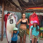 Cozumel Surfing Family