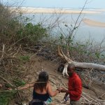 The magnificent Kosi Bay beach and estuary...and Vusi helpful as always