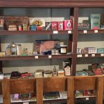 Store shelves in the museum