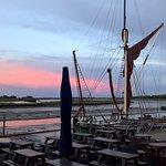 Sunset on the quay