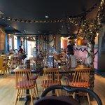 View inside refurbished restaurant